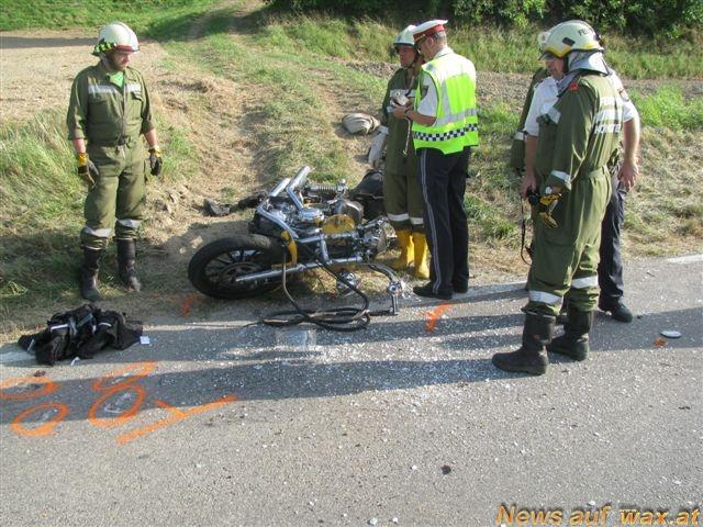 tödlicher motorradunfall gestern